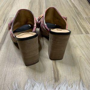 Sam Edelman Shoes - Sam Edelman Yumi Woven Stripe Heeled Mule